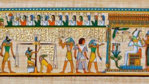 Egyptian Papyrus scene